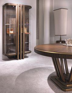 Glass Doors Cabinet by Annibale Colombo — Masha Shapiro Agency