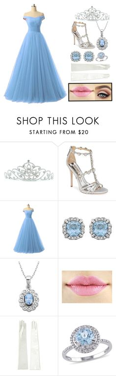 """""""Princess #2"""" by harrypotterhead25 ❤ liked on Polyvore featuring Kate Marie, Badgley Mischka, Lord & Taylor, Manokhi and Modern Bride"""