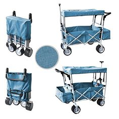 They're roomy enough to tote around kids and supplies without faltering, they travel well on different types of terrain (grass, gravel, dirt, sands), but they'r