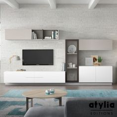 Meuble tv mural 2016 moderne l gant et peu encombrant for Atylia meuble tv