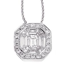 White Gold Diamond Pendant style number P3066WG.