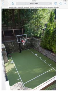 Small Sport Court. Backyard Basketball ...
