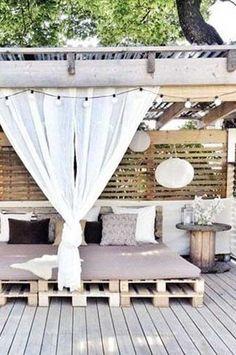 Banquette-lit de jardin acacia, Ayumi | Banquettes, Gardens and Garden
