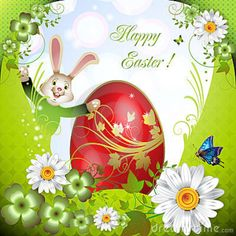 free wallpaper easter bunny rabbits | Easter Card With Bunny Royalty Free Stock Photography Image