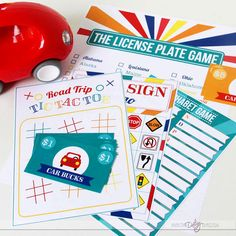 Road Trip Printable Kit- love the car behavior bucks!!