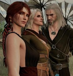 Witcher 3 Triss, Ciri, Yennefer Of Vengerberg, Geralt Of Rivia, Witcher 3 Wild Hunt, The Witcher 3, 3d Character, Character Design, Triss Merigold