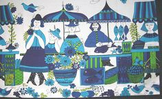 Vintage fabric ~ Figgio market by Vintage LOVE, via Flickr