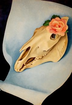 Horse's Skull with Pink Rose, Georgia O'Keeffe, 1931