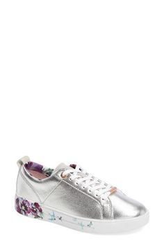 Free shipping and returns on Ted Baker London Barrica Sneaker (Women) at Nordstrom.com. Sporty style and timeless sophistication merge in a classic low-top sneaker featuring painterly flowers and polished logo hardware at the sole.