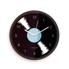 "Vinyl Wall Clock  $14.99 Details & Dimensions  Dimensions 10.5"" L x 8"" W x 2"" H  Weight 0.73 lb  Materials Polysystrene/plastic, glass  Uses 1x AA battery (not included) 