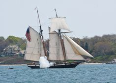 Every memorial day weekend, the Village of Greenport on the North Fork of Long Island hosts tall ships.  It is a wonderful spectacle. From NorthforkPatch.com