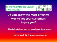 Who doesn't want to know this? www.moneygemstones.com