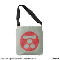 Mori Mon Japanese samurai clan red Tote Bag