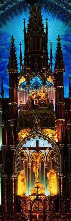 Church Cathedral Altar - Long, Tall, Vertical Pins.
