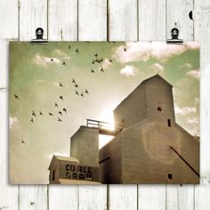 grain elevator photograph large wall art modern by MTPhotoJournal, $10.00  Love this Etsy shop