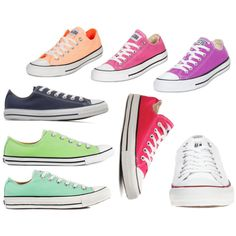 If you must wear these shoes, at least they come in cute colors - Love, mom. :)