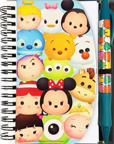Disney Tsum Tsum Notepad and Pen Set with Carry Tote