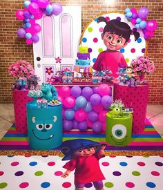 Monsters Inc Boo, Monsters Inc Baby Shower, Monster Inc Birthday, Monster 1st Birthdays, Monster Inc Party, Monster University Birthday, 2nd Birthday Party Themes, 1st Birthday Girls, Birthday Party Decorations
