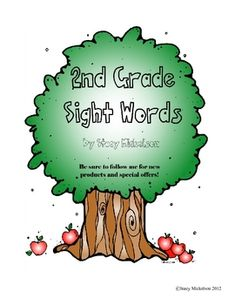 This checklist has 46 basic 2nd grade sight words.  The checklist has spaces for 1st and 2nd try, as well as, a small space for notes.  There are t...