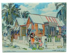 Jill Walker - an artist on Barbados whose work we enjoyed in various forms.  Fresh.