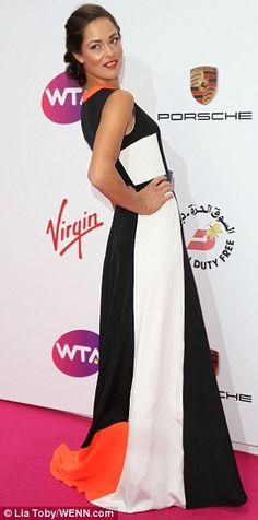 Long:   Ana Ivanovic & Jelena Jankovic hit the floor in floor length gowns.