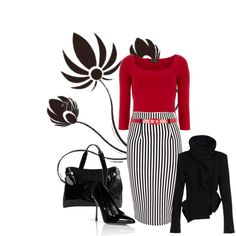 """""""black white RED !!"""" by jvs8384 on Polyvore"""