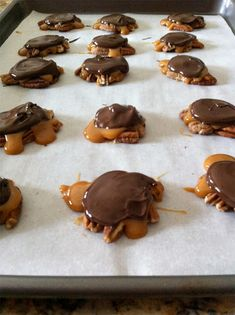 The Small Things Blog: Cookie Week: Salted Chocolate Caramel Clusters - we used to call them Turtles