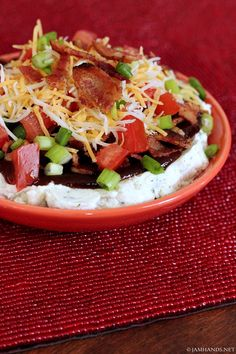 Barbecue Bacon Ranch Dip | recipe from Jam Hands