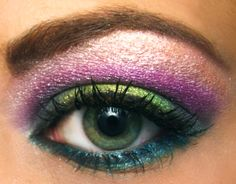 Design+Eyeshadow+Eye+Makeup | Colorful Summer Rainbow Eyeshadow Portrait | Pumpkincat210 Blog