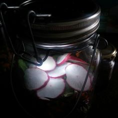Radish in the dark #jarsalad