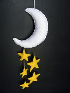 Felt Moon and Starry Sky Mobile   #shopping #gifts #Christmas  https://itunes.apple.com/us/app/blisslist-easy-shopping-gifting/id667837070
