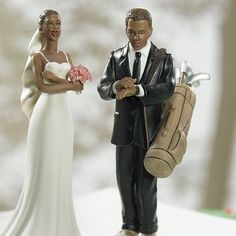Golf Bride Wedding Cake Topper