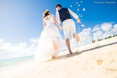 【日本の絶景でウェディングフォト】青い海で結婚式の前撮り!