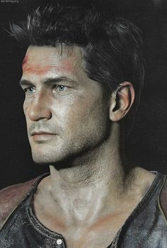 Nathan Drake : Uncharted Not sure how I feel about him looking like a dad Nathan Drake, Drake Uncharted 4, Uncharted Series, Ps4, Playstation Games, Sweet Games, Digital Sculpting, Pokemon, Adventure Games
