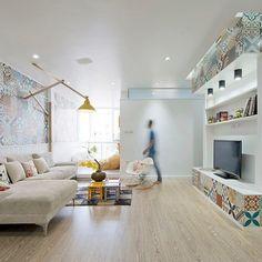 HT Apartment by Landmak Architecture #homeadore #interior #interiors #interiordesign #interiordesigns #livingroom #residence #apartment #flat #home #casa #property #vietnam #LeAnhDuc #LandmakArchitecture #Padgram
