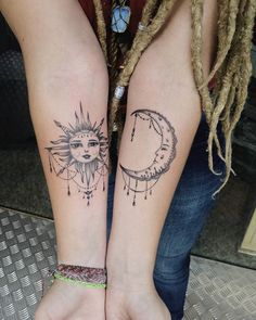 Sun and moon @blackstone357 #black_art #sunandmoon #sunandmoontattoo #tattoo2me…