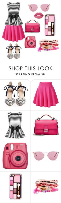 """""""PINK"""" by intan-fitarani on Polyvore featuring J.Crew, WearAll, Fendi, Oliver Peoples, Hipanema and Lime Crime"""