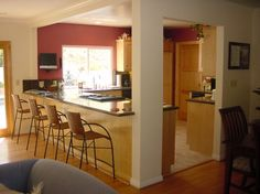 Load Bearing Columns Design Ideas, Pictures, Remodel and Decor Kitchen Redo, Kitchen Styling, Kitchen Remodel, Kitchen Ideas, Kitchen Diner Extension, Column Design, Family Kitchen, Home Deco, Home Remodeling