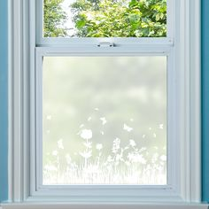 """""""Mathilde"""" Design frosted window film with a patterned border, either see through or coloured. From Purlfrost. Space Saving Doors, Apartment Painting, Frosted Window Film, Window Privacy, Window Films, Shed Homes, Window Design, Border Design, Window Coverings"""