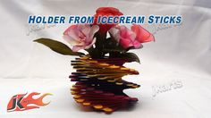 DIY How to make Holder from Ice Cream Stick / Popsicle Sticks - JK Arts 145