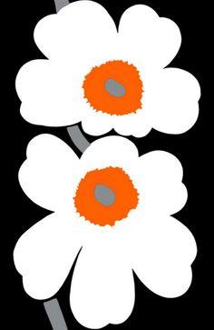 Fabric Designs Marimekko: The Spirit of Unikko. This Finnish design brand has been a success since it begun in Image: Marimekko. Art Mural Tissu, Textile Patterns, Print Patterns, Floral Patterns, Marimekko Fabric, Marimekko Wallpaper, Scandinavia Design, Motif Floral, Floral Design