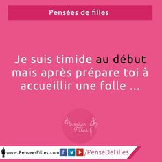 Une fille timide