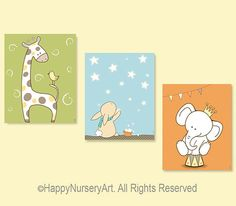Baby Nursery Art Children Room Decor Kids Art by HappyNurseryArt, $34.00