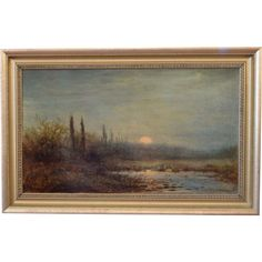Emile Paul Riviere French Artist 1829-1911 Landscape Scene Oil in Canvas by TheBestOfferAntiques on Etsy