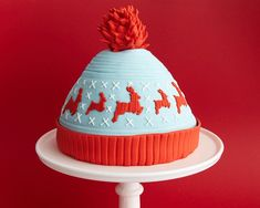 Hats off to this adorable knitted cake. #recipe