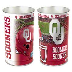 Oklahoma Sooners Wastebasket