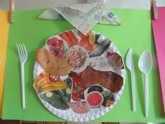 Easy Crafts For Kids, Diy For Kids, Food Themes, Plate, Craft Activities, Chefs, Healthy Living, Restaurant, Education