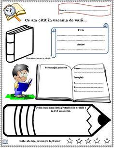 Fișă de lectură. Ce am citit în vacanța de vară? O fișă de lectură în format editabil pentru lecțiile de comunicare în limba română și un joc.