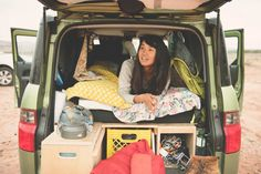 Stevie Lewis lives in a Honda Element. Read her interview on She-Explores.com
