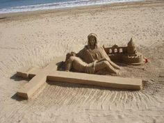 WOW, what a wonderful sand sculpture.